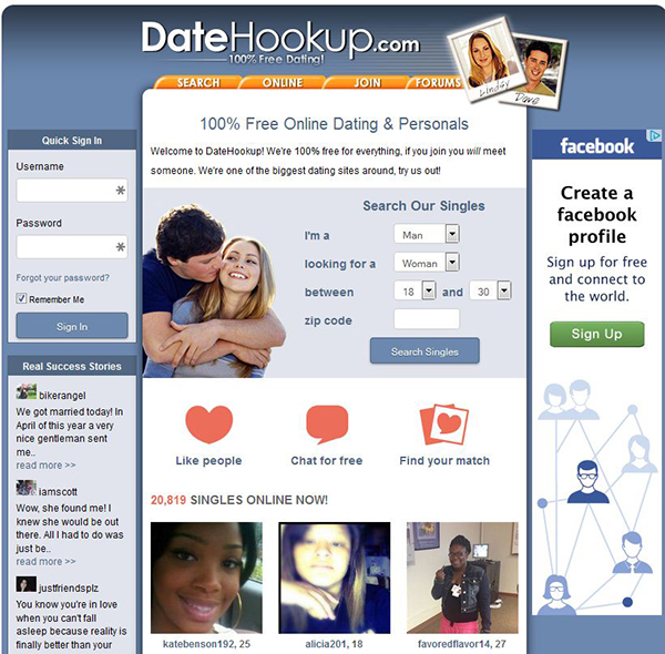 DateHookup 100 Free and Straightforward But Also Outdated (3.4/5.0 Rating)