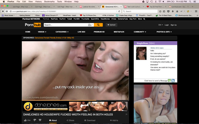 Pornhub Ui Screenshot