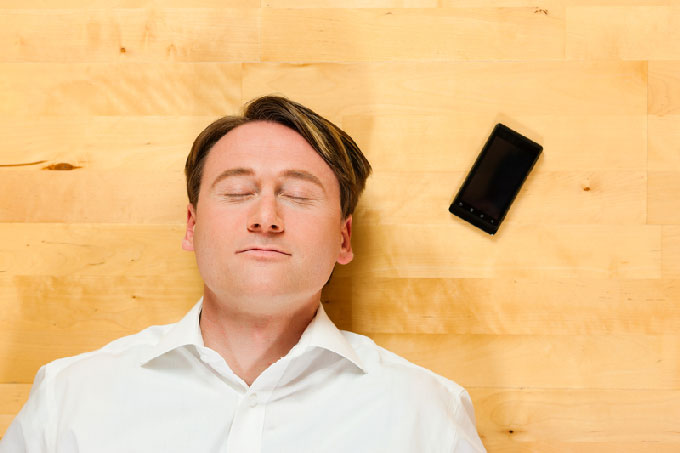 Man Having Phone Sex Therapy Session